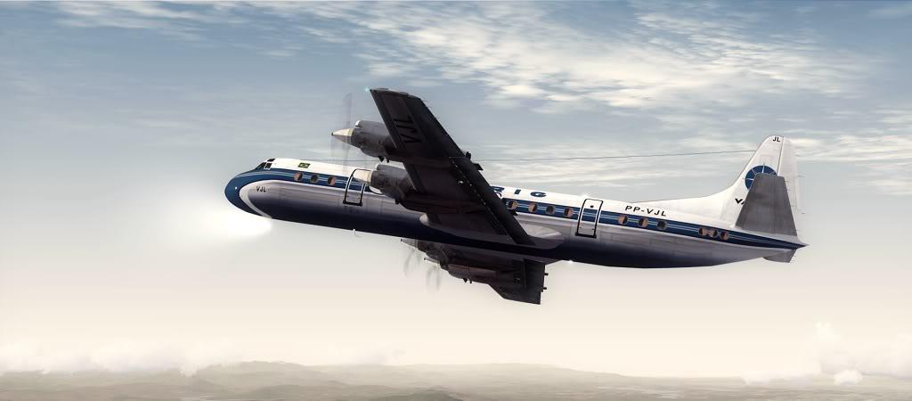 Símbolo da Ponte Aérea SP-RJ Lockheed L-188 Electra Varig 17