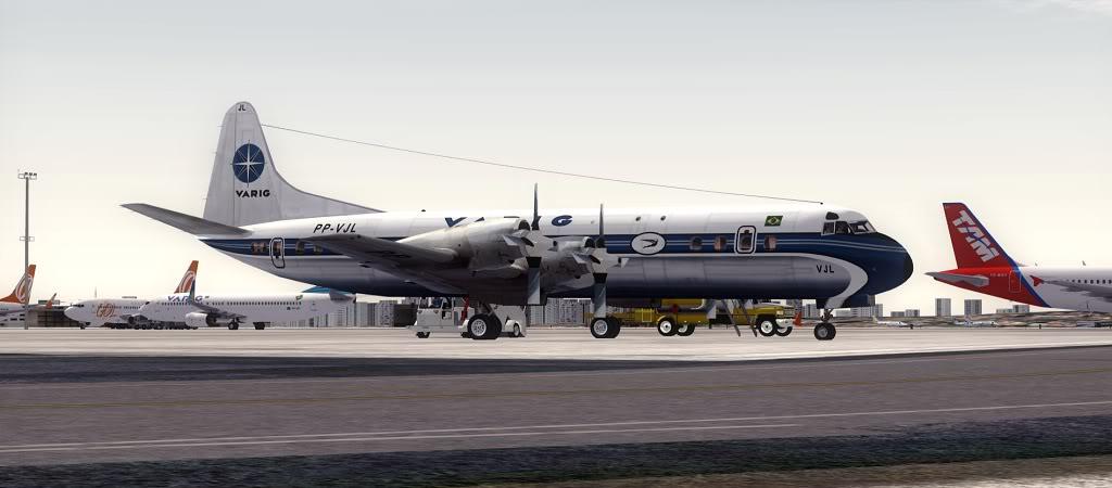 Símbolo da Ponte Aérea SP-RJ Lockheed L-188 Electra Varig 2