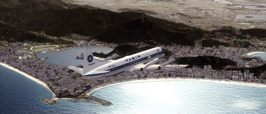 Símbolo da Ponte Aérea SP-RJ Lockheed L-188 Electra Varig 20
