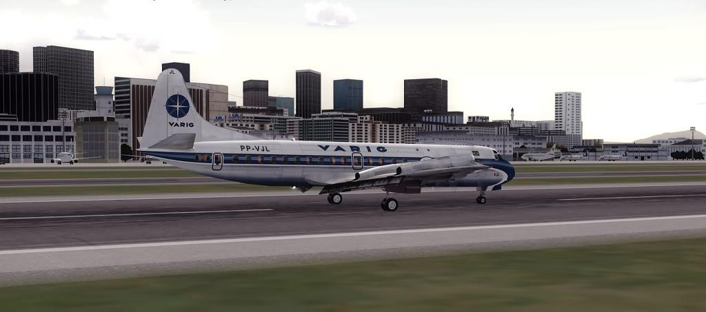 Símbolo da Ponte Aérea SP-RJ Lockheed L-188 Electra Varig 21