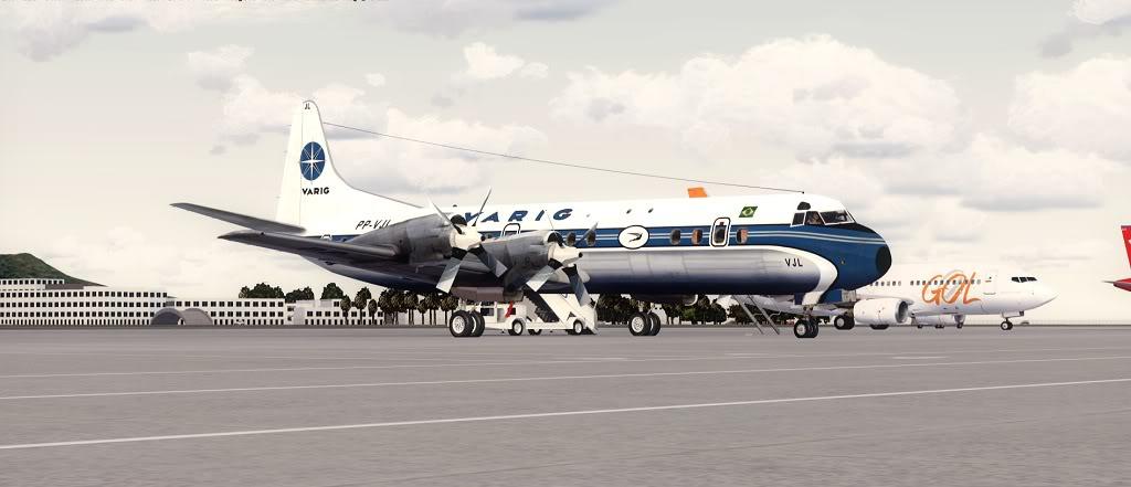 Símbolo da Ponte Aérea SP-RJ Lockheed L-188 Electra Varig 25