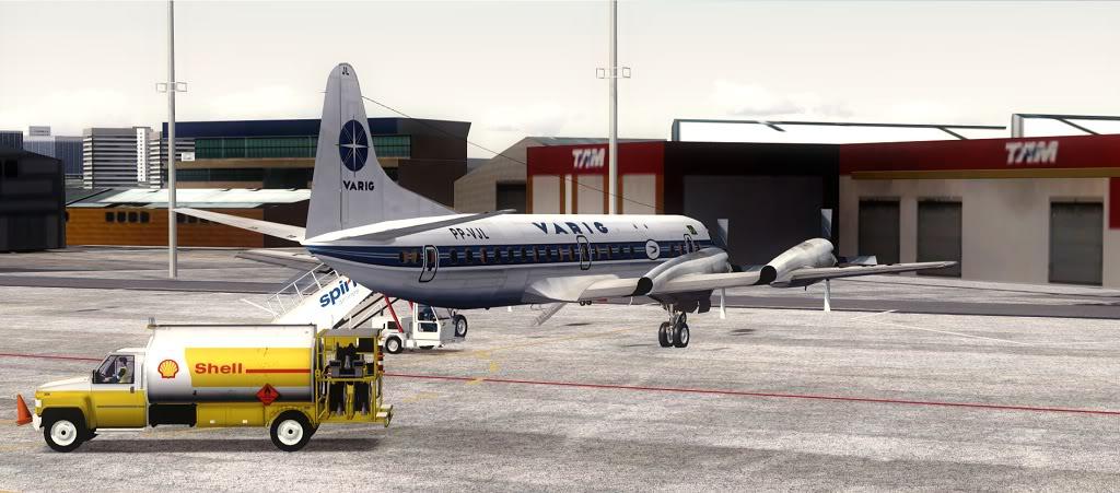 Símbolo da Ponte Aérea SP-RJ Lockheed L-188 Electra Varig 3
