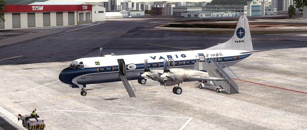 Símbolo da Ponte Aérea SP-RJ Lockheed L-188 Electra Varig 4