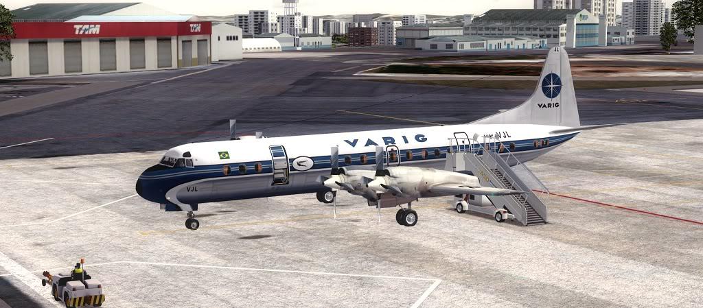 Símbolo da Ponte Aérea SP-RJ Lockheed L-188 Electra Varig 6