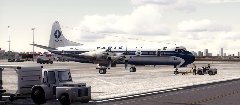 Símbolo da Ponte Aérea SP-RJ Lockheed L-188 Electra Varig 7