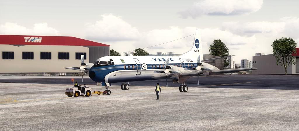Símbolo da Ponte Aérea SP-RJ Lockheed L-188 Electra Varig 8