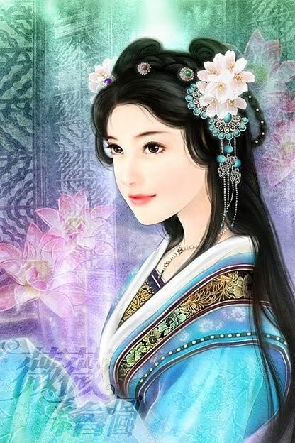 Các thành viên trong nhà cùng vô thôi! Chinese_girl_painting17