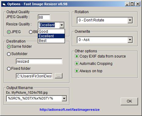 Fast Image Resizer v0.98 لتكبير الصورة حتي 500% مع الحفاظ علي جودتها تبرنامج ماماً 6-8