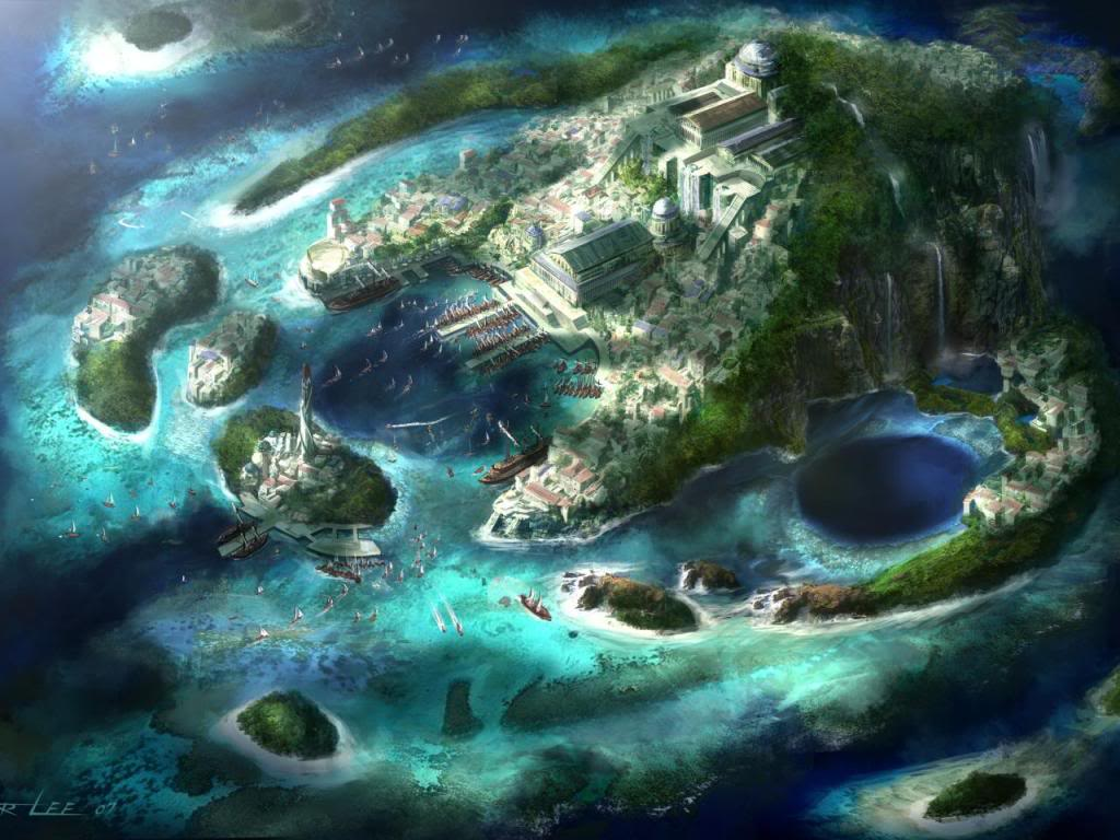 (Historia) Piratas Robot en el Salpicón de Eurípides Peter-lee-diablo-3-art-island-harbor-bay-boats-lighthouse-city-waterfalls-fantasy-960x1280