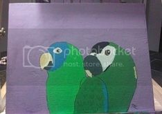 Conue and Macaw Painting Painting