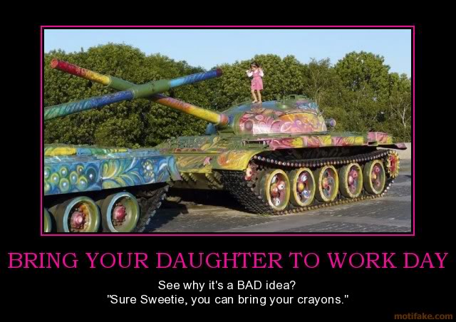 The Funny Side of the Military  Bring-your-daughter-to-work-day-gir