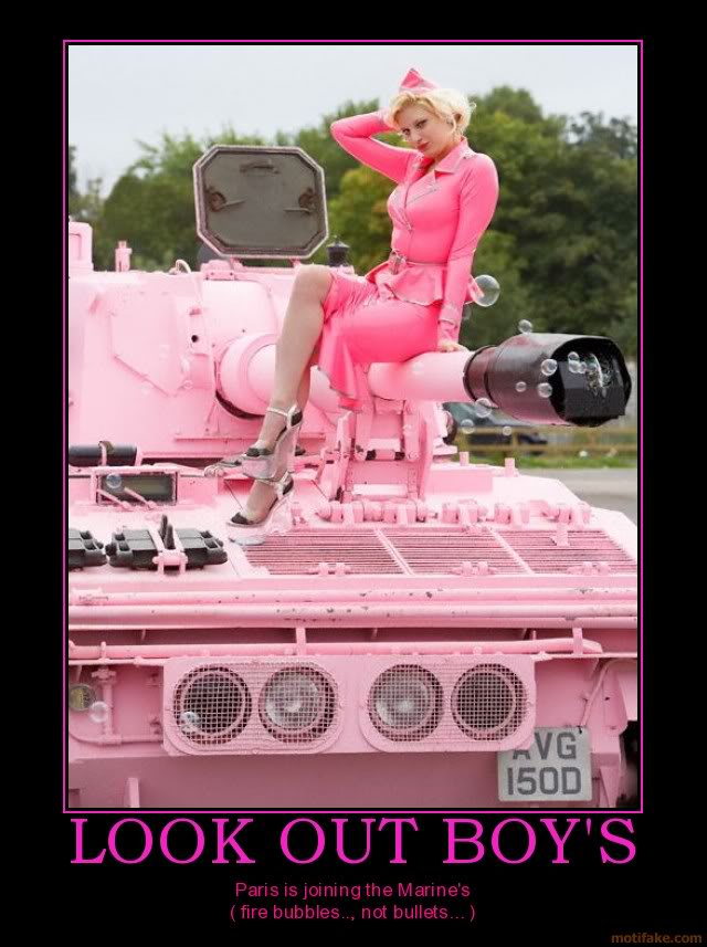 The Funny Side of the Military  Look-out-boys-paris-hilton-tank-pin