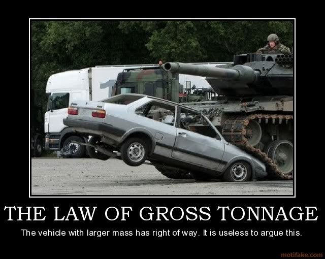 The Funny Side of the Military  The-law-of-gross-tonnage-tank-vs-ca
