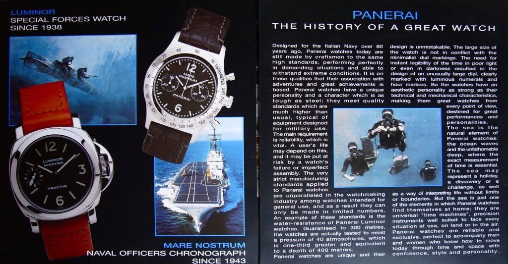 Booklet Officine Panerai P1050350