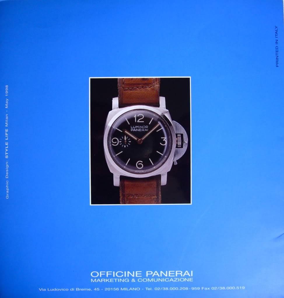 Booklet Officine Panerai P1050360