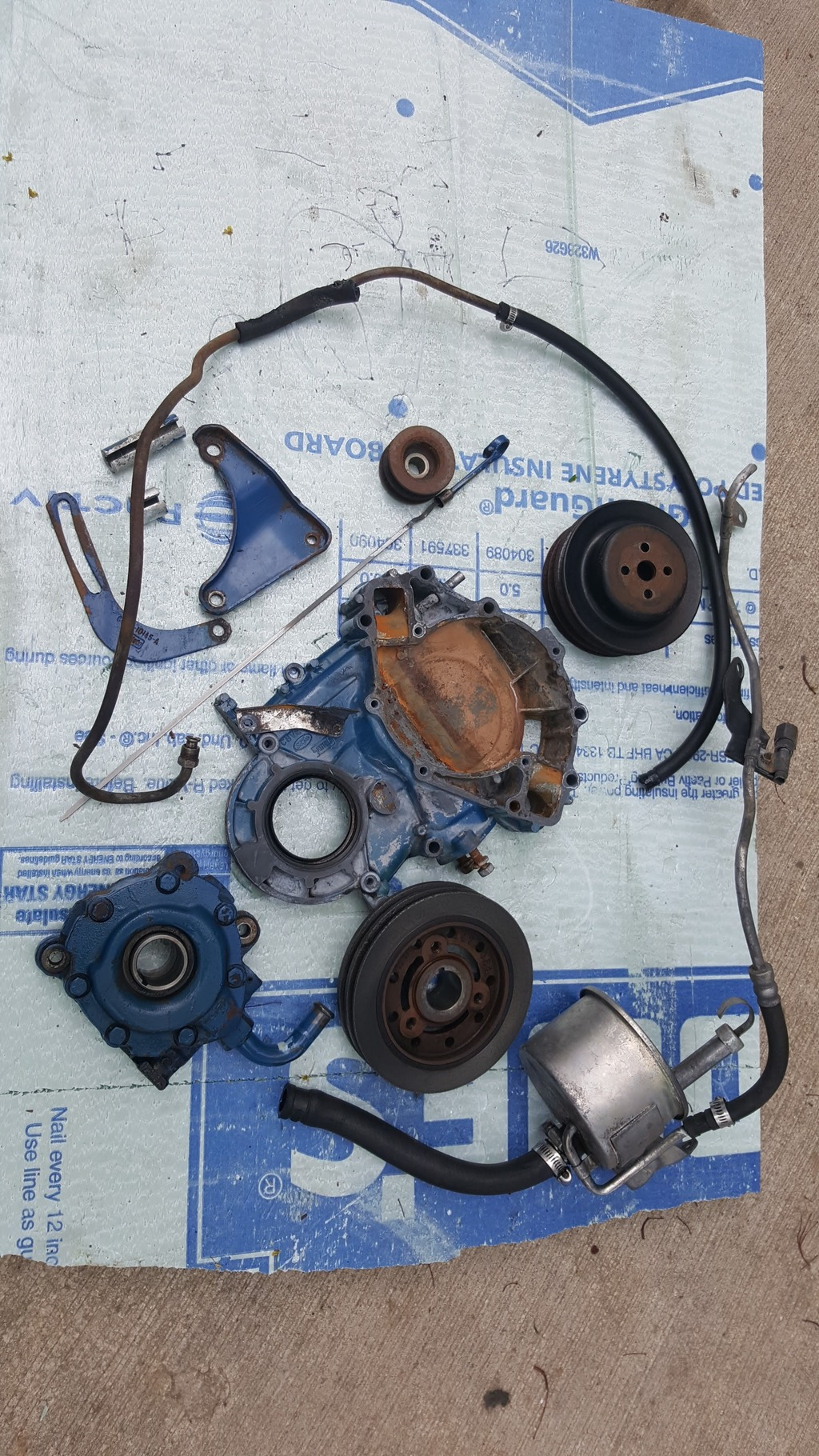 1968 1969 Lincoln 460 crank driven power steering pump and extras   $500 OBO 20160516_172307_zpsak9w2hrb