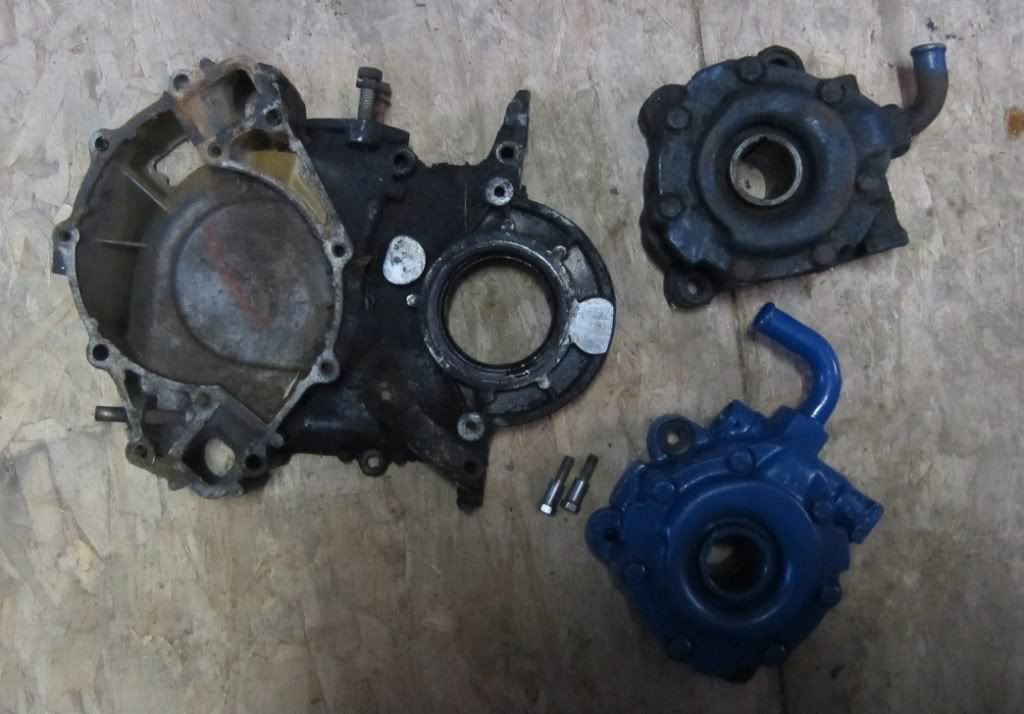 March aluminum pulley #1810 being used on 68 Lincoln 460 with crank driven power steering Lincolnpump002_zpsi93g1y5h