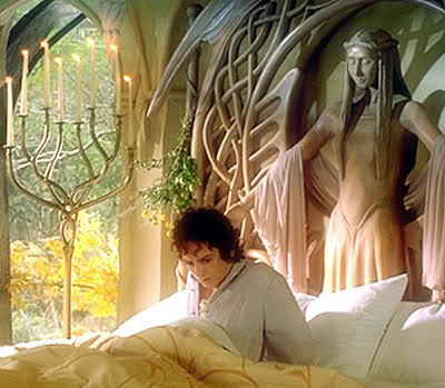 Golden moments Frodo_rivendell_sittingupinbed