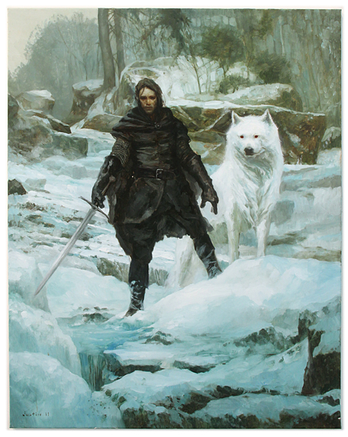 A Song of Ice and Fire Size500_justinsweet_johnsnow_500
