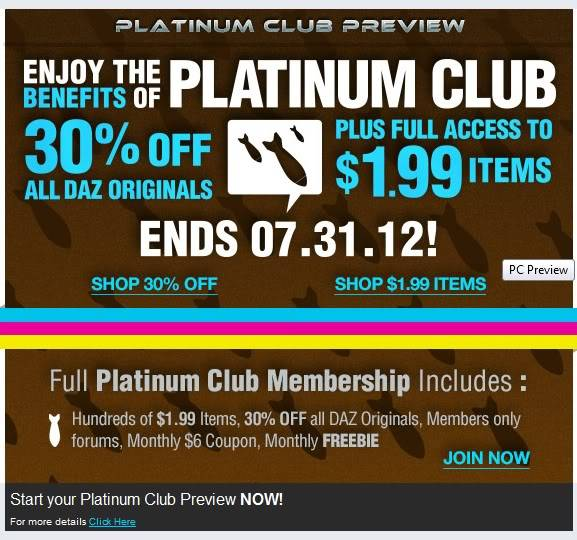 Platin Club Items Sale
