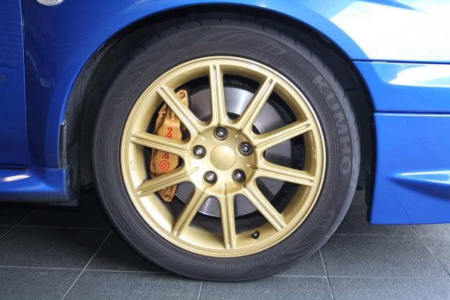 SOLD: 05 Sti Wheels X4, 5x114.3 17x8 - suit 05+ STI IMG_4609
