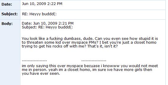 Internet Tough Guy on Myspace ITG5