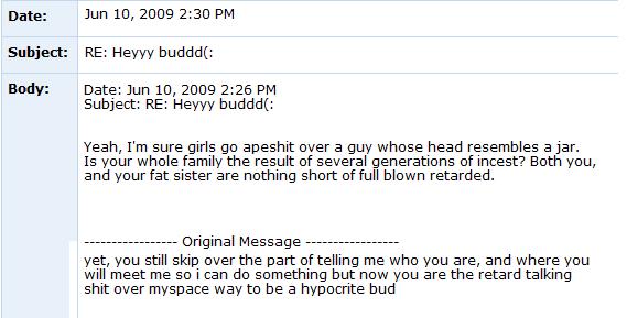 Internet Tough Guy on Myspace ITG6