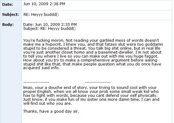 Internet Tough Guy on Myspace ITG7