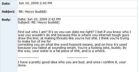 Internet Tough Guy on Myspace ITG8