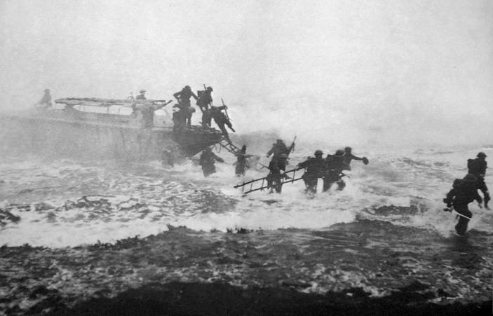 The Greatest Archer in the World! Jack_Churchill_leading_training_charge_with_sword2