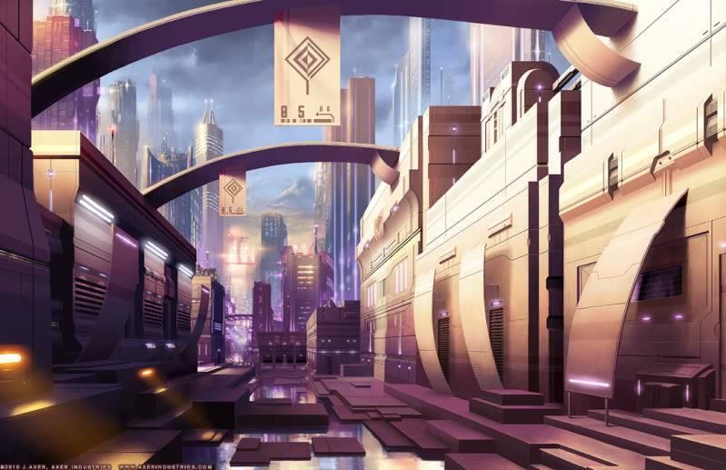 Coming Home. Tech_City_Market_by_JayAxer