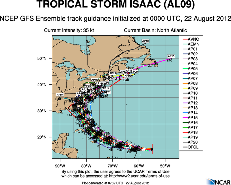The Atlantic Express - Tropical Storm Isaac - Tropical STorm Joyce- and New AOI Aal09_2012082200_track_gfs