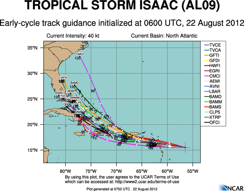 The Atlantic Express - Tropical Storm Isaac - Tropical STorm Joyce- and New AOI Aal09_2012082206_track_early