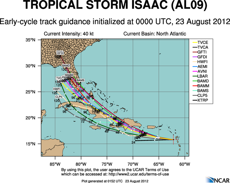 The Atlantic Express - Tropical Storm Isaac - Tropical STorm Joyce- and New AOI Aal09_2012082300_track_early