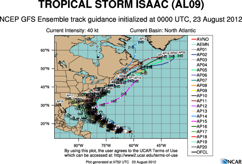 The Atlantic Express - Tropical Storm Isaac - Tropical STorm Joyce- and New AOI Aal09_2012082300_track_gfs