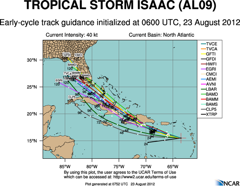 The Atlantic Express - Tropical Storm Isaac - Tropical STorm Joyce- and New AOI Aal09_2012082306_track_early