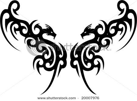 Galerie de Draco  Stock-vector-dragon-tribal-tattoo-20007976