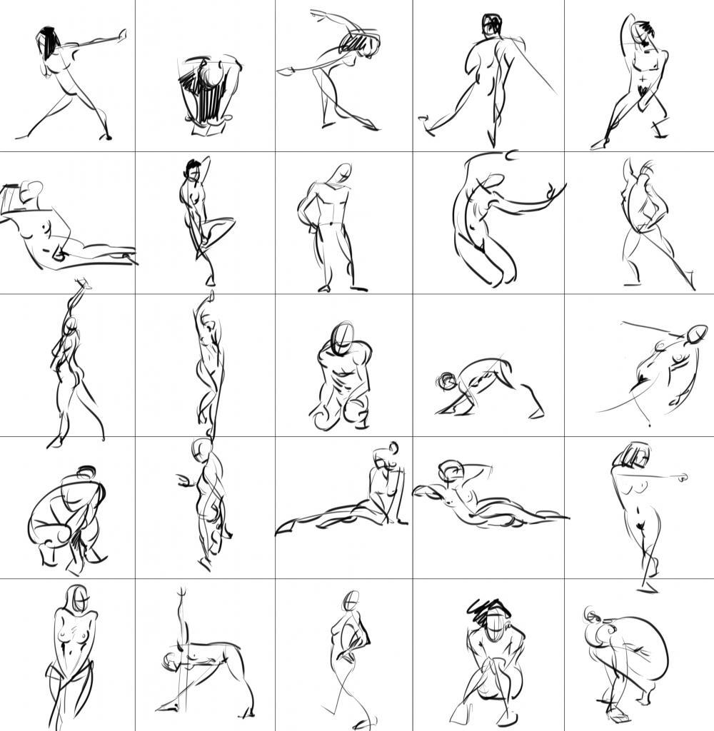 [Sketchbook] Les carnets de Virid Rain - Page 2 Mini-gestures3-60sec
