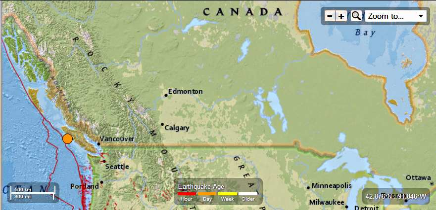 Canada – 5.3 Magnitude Earthquake – 112km S of Port Hardy Canada-53MagEQAugust4th2013_zps36b8097b