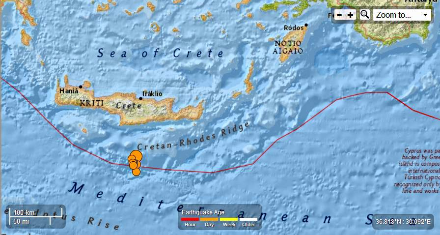 Greece – 4 EQ's from 5.8 to 4.0 Mag June 16th 2013 – A Total of 15 EQ's in the last 2 days. Greece-7EQsfrom62to45Mag-61kmSofPirgosJune15th2013_zpsf606e757