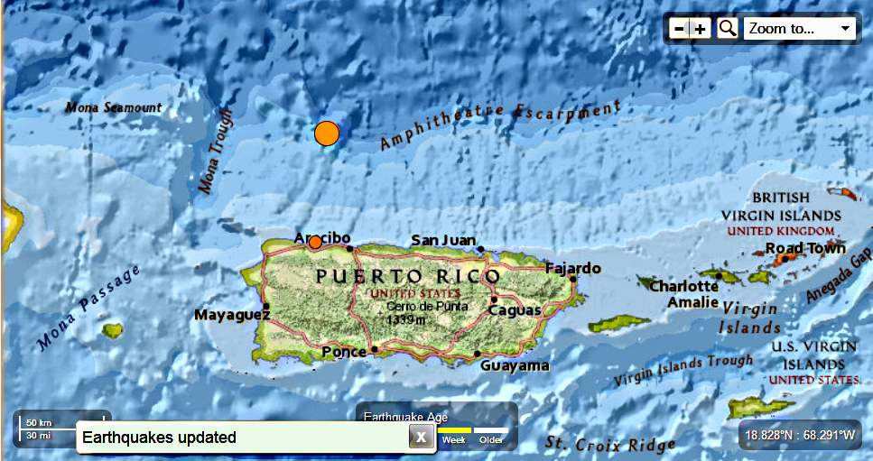 Puerto Rico – 6.5 Magnitude Earthquake 57km N of Hatillo PuertRico-65MagEQ01122014_zps1acb409a