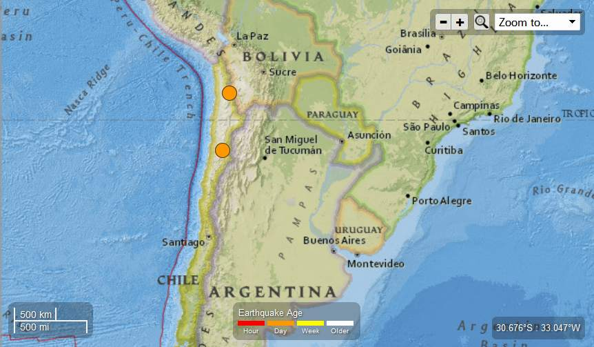 Earth Watch Report  -  Earthquakes Chile-2EQs56and53May12th2013_zps851561c2