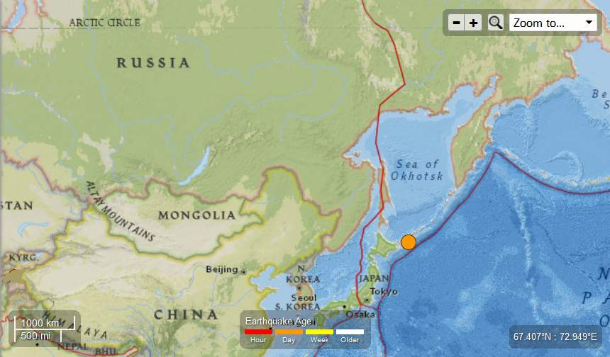 Earth Watch Report  -  Earthquakes Russia-56MagEQMay12th2013_zps3add8c7c