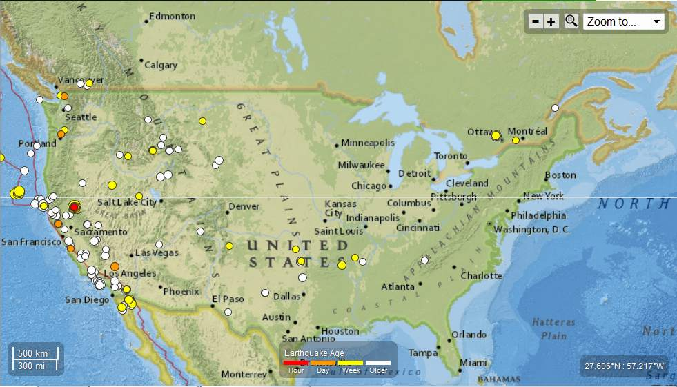 United States – Seismic Activity 112 registered Earthquakes May15th – May 25th, 2013 . Total of 200 EQs in the last 25 days UnitedStates-SeismicActivity112registeredEarthquakesMay15th-May25th2013_zps8449e87a