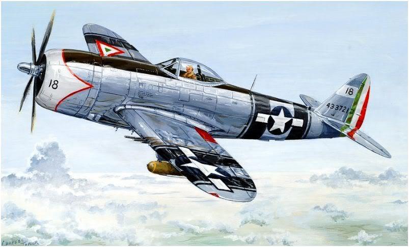 """P-47 D """"Centinela de la Patria"""" (Foto del Mes). AztecEagleCharlesTaylor"""