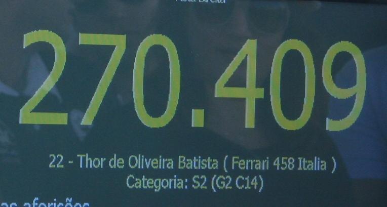 Multa de Thor por Ferrari sem placa é de R$ 191,54  Thor