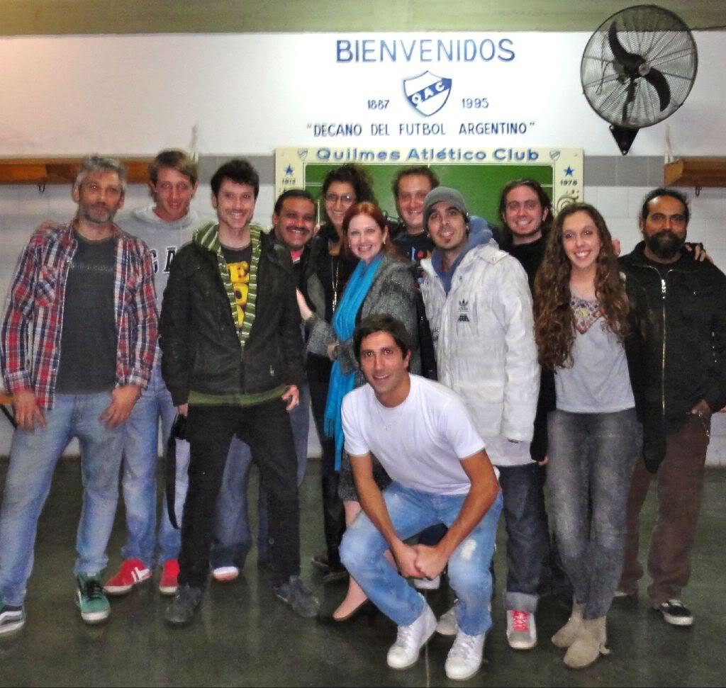 [25-05-2012] Andrea del Boca filma un documental sobre la historia del Quilmes Atlético Club 2012_Andrea_grabando_documental_d_Quilmes_002