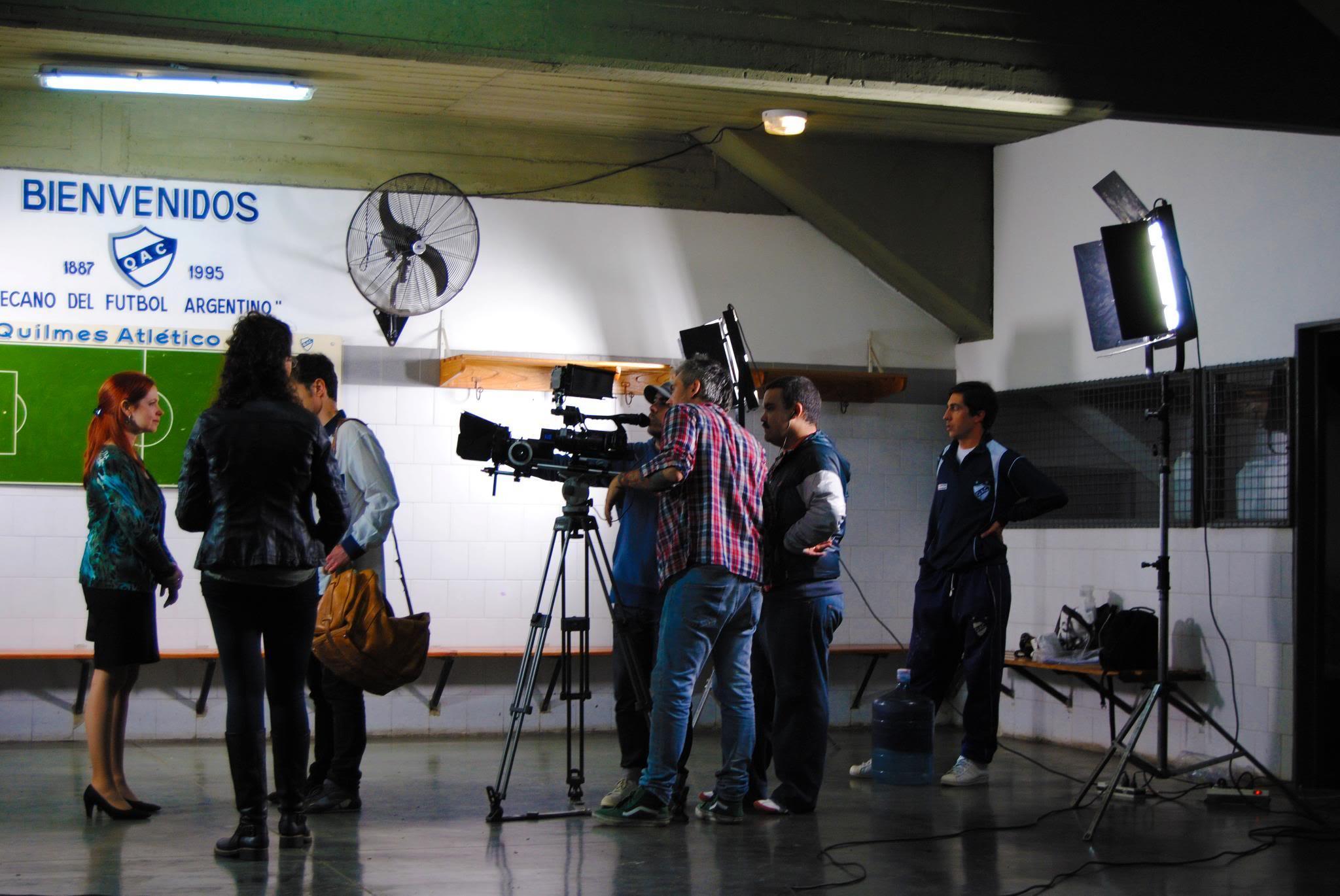 [25-05-2012] Andrea del Boca filma un documental sobre la historia del Quilmes Atlético Club 469260