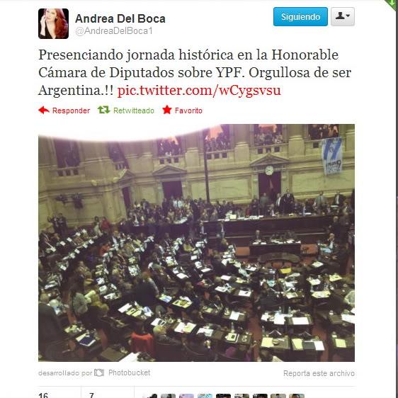 [02/05/2012] Andrea en el Congreso durante la aprobacion de la expropiación d YPF Congreso