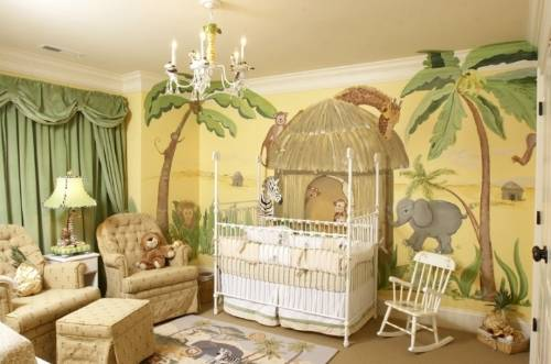 From Paris with love - Page 3 Splendid-jungle-wall-mural-for-nursery-elegant-ideas_zps51b99d7f